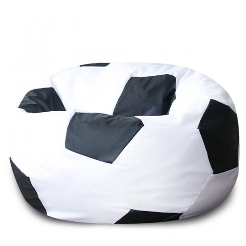 Кресло Мяч Бело-Черный, ЭкоКожа