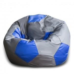 Кресло Мяч Серо-Синий, Оксфорд