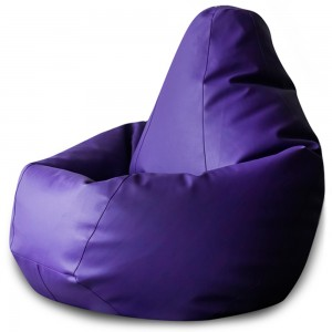 Кресло Мешок Фиолетовая ЭкоКожа