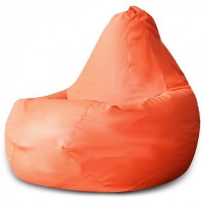 Кресло Мешок Оранжевая ЭкоКожа