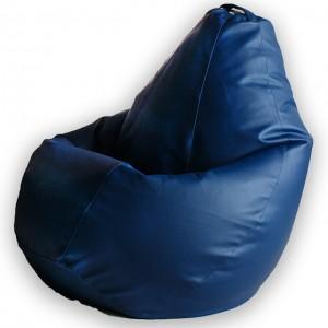 Кресло Мешок Синяя ЭкоКожа