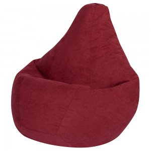 Кресло Мешок Бордовый Велюр