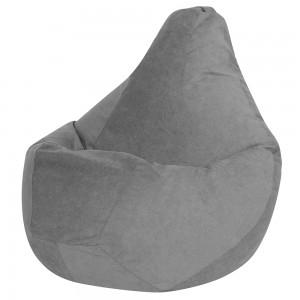 Кресло Мешок Серый Велюр