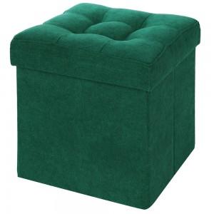Пуфик Складной Зеленый Велюр