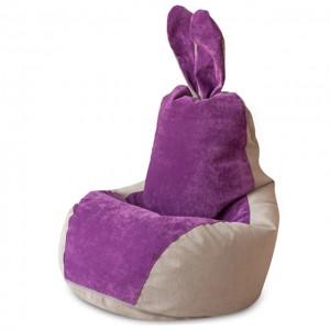 Кресло Зайчик Серо-Фиолетовый