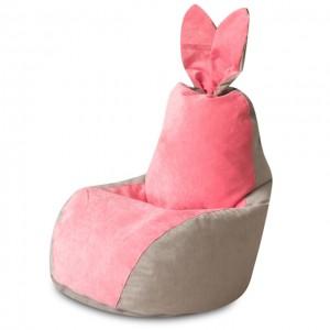 Кресло Зайчик Серо-Розовый