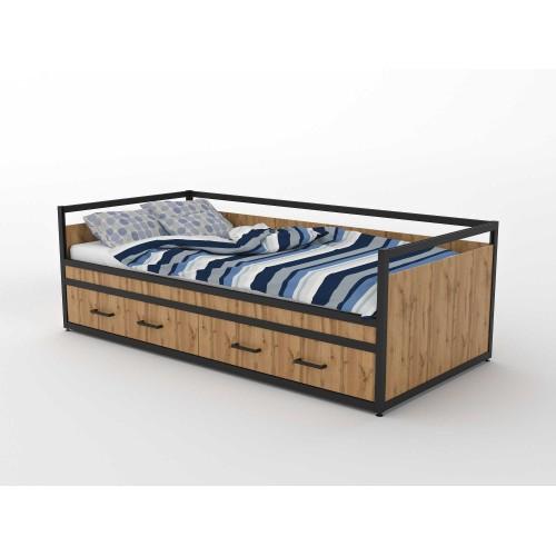 Кровать односпальная с ящиками  (ЭЛ10YA)