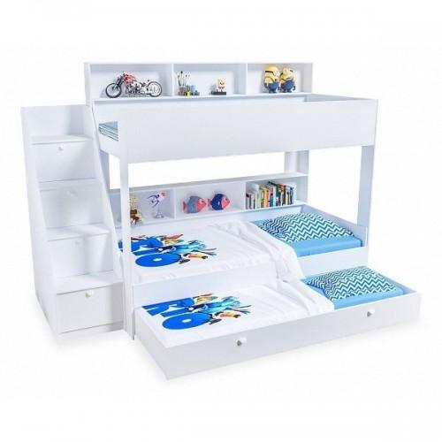Двухъярусная кровать Golden Kids 10.1 (Белая)