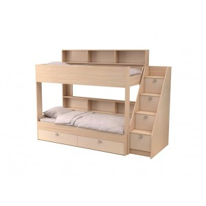 Двухъярусная кровать Golden Kids 10 (Дуб молочный)