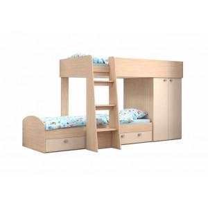 Двухъярусная кровать Golden Kids 2 (Дуб молочный)