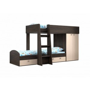 Двухъярусная кровать Golden Kids 2 (Венге)