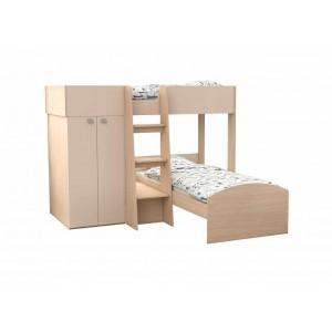 Двухъярусная кровать Golden Kids 4 (Дуб молочный)