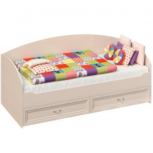 Кровать с двумя выдвижными ящиками (Дуб)
