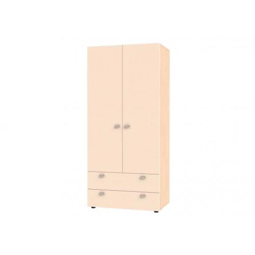 Шкаф двухстворчатый Golden Kids 900 2YA  (Дуб молочный)