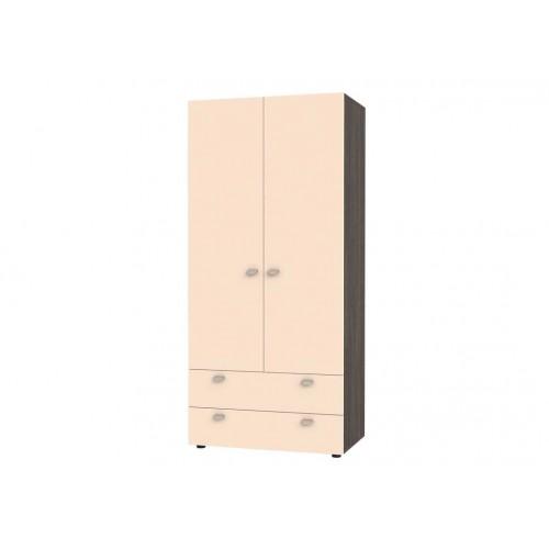 Шкаф двухстворчатый Golden Kids 900 2YA  (Венге)