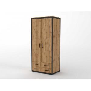 Шкаф распашной с двумя ящиками  (ЭЛ9)